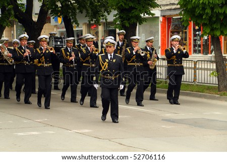 VARNA, BULGARIA - MAY 9: Celebrating May 9, the Victory Day, the End of the World War II, and the Day of Europe. May 9, 2010 in Varna, Bulgaria