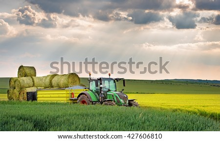 Varna, Bulgaria - May 23th, 2016: Tractor FENDT 724 Vario. Fendt is a German manufacturer of agricultural tractors machines, manufacturing a full line of tractors, combine harvesters and balers.