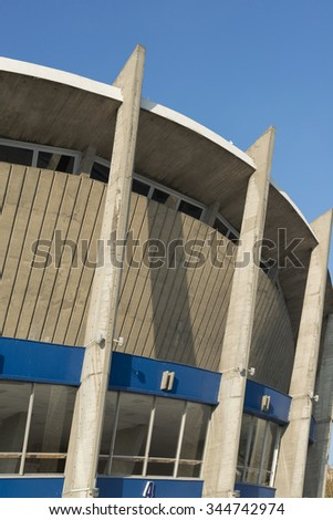 VARNA, BULGARIA - November 12, 2015: the Palace of Culture and Sports is an indoor complex for culture and sport located in Varna, Bulgaria. The complex has three sports halls.