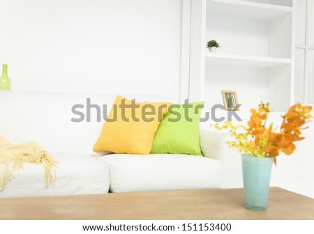 vase and sofa - stock photo