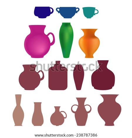 Vase Shapes Different Styles Stock Illustration 238787386 Shutterstock