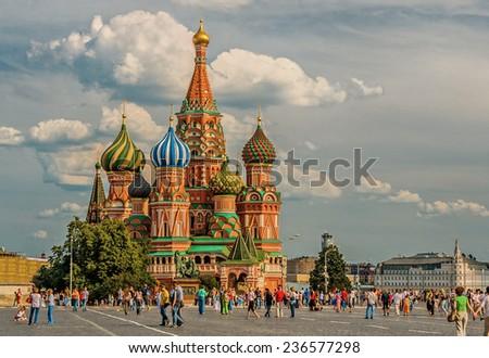 Vasily Blazhennogo cathedral - stock photo