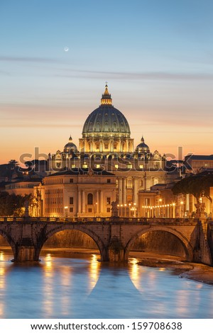 Vatican City during sunset, Rome - stock photo