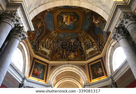 VATICAN CITY, VATICAN, JUNE 15, 2015 : interiors and architectural details of the Vatican museum, june 15, 2015, in Vatican city, Vatican