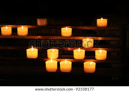 Vatican, Rome, Italy. Candles in St. Peter's Basilica - stock photo