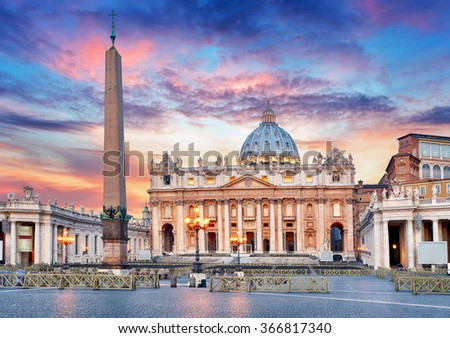 Vatican, Rome, St. Peter's Basilica - stock photo