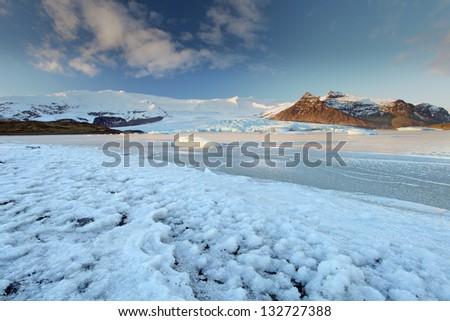 vatnajokull Glacier Iceland - stock photo