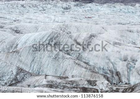 Vatnajokull glacier trekking, Iceland - stock photo