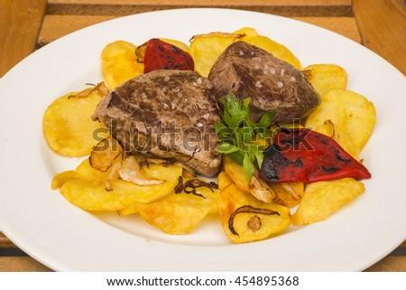Veal delicious tasty sirloin - stock photo