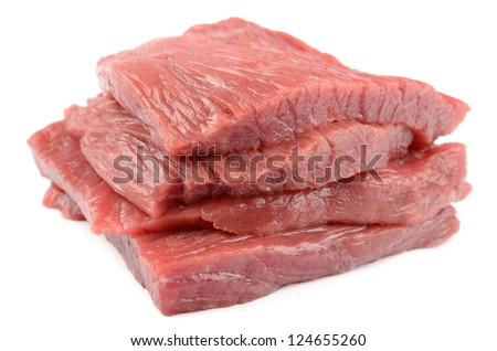 Veal on a white background