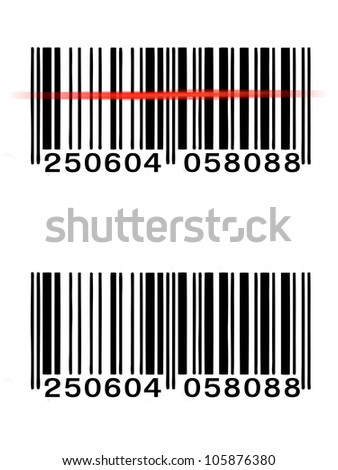 vector barcode - stock photo