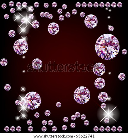 Vector diamonds. Raster of 60490195 - stock photo
