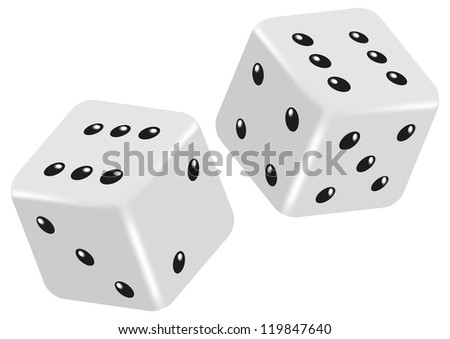 Vector dice - stock photo
