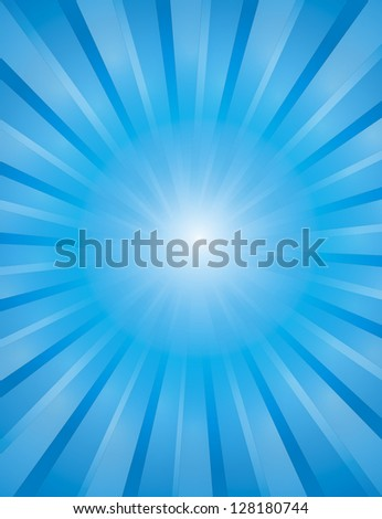 Vector explosion of light with casual rays.