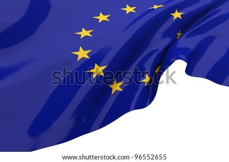 Vector Flags of  EU - stock photo