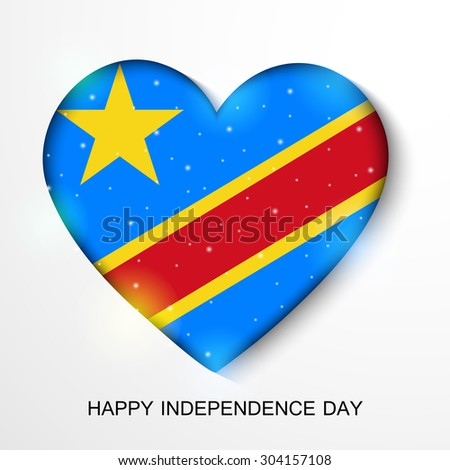 Vector Illustration Congo Independence Day Stock Vector - Congo independence day