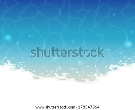 Vector illustration of Blue summer water