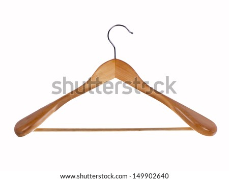 vector illustration of clothes hangers
