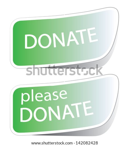 Vector illustration of donate icon - stock photo