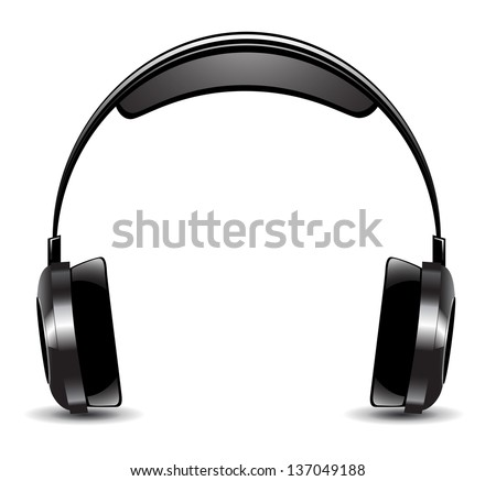 Vector illustration of headphones isolated on a white background