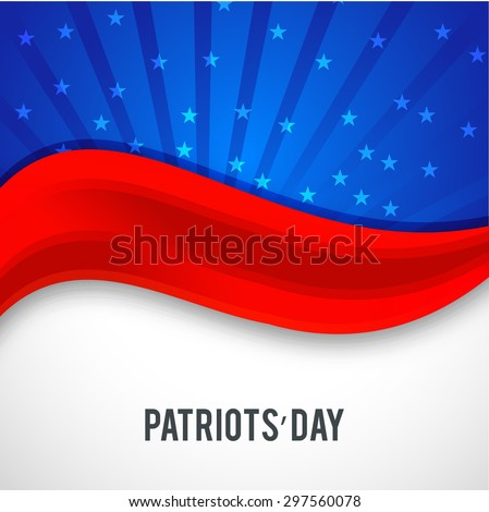 Vector illustration  of U.S.A Flag for Patriots' Day.