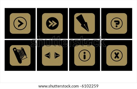 Vector illustration of useful icon set