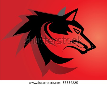 Tribal wolf stock images royalty free images vectors for Red wolf tattoo