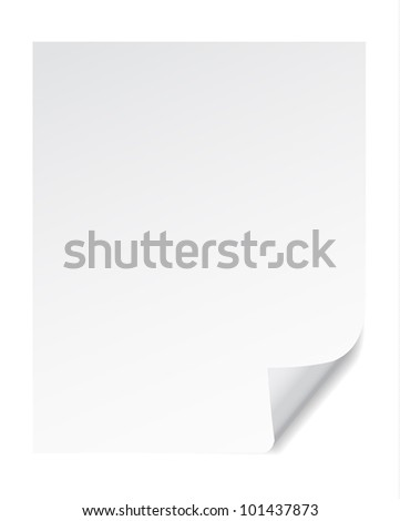 vector illustrations of paper page corner curl effects.