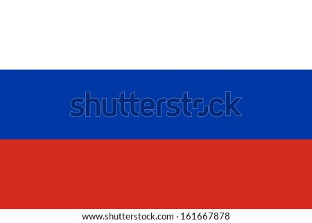 vector of russia flag - stock photo
