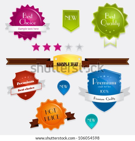 Vector set of labels, banners and icons. Vector version is also available in this gallery - stock photo