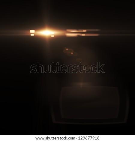 Vector star, sun with lens flare. - stock photo