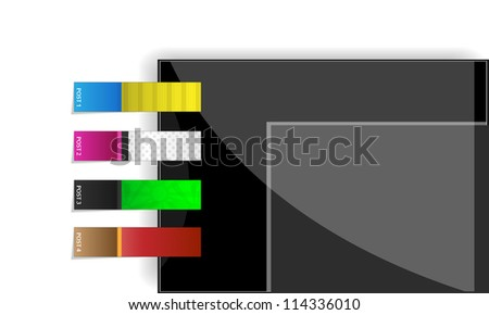 Vector stickers & bookmarks - stock photo