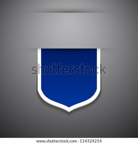Vector tag on grey background. Check my portfolio for vector version. - stock photo