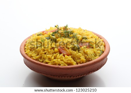 Veg biryani - stock photo