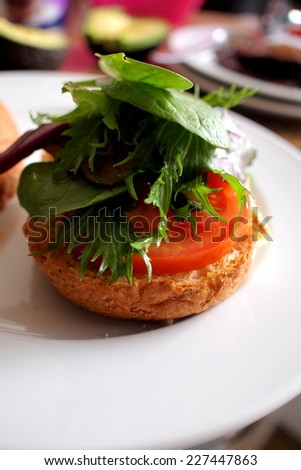 veg on bread