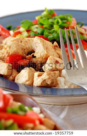 vegan dish - stock photo