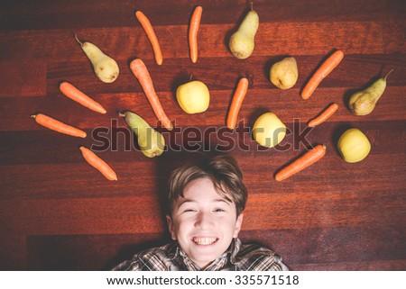 vegan food - stock photo