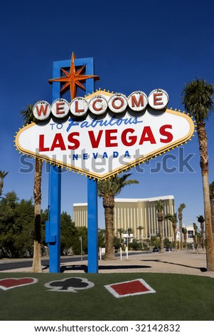 Vegas Welcome Sign - stock photo