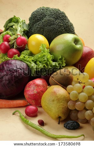 Vegetable and Fruit - stock photo