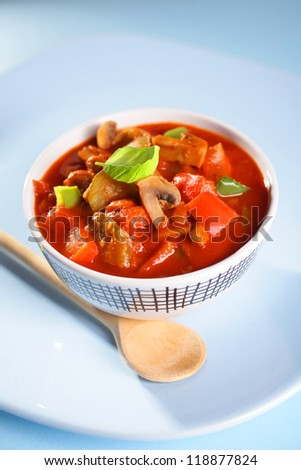 Vegetable and meat - stock photo