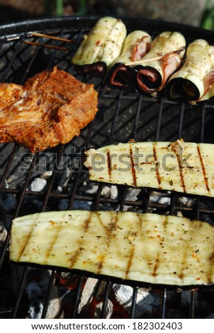 Vegetable and meat grilling