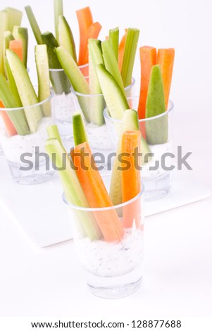 vegetable appetizer with yogurt