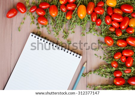 Vegetable background. Recipe cooking. View from above with copy space.