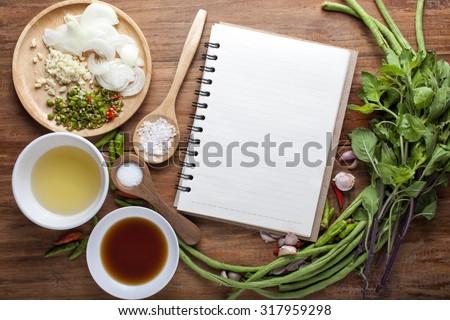 Vegetable background, recipes. - stock photo