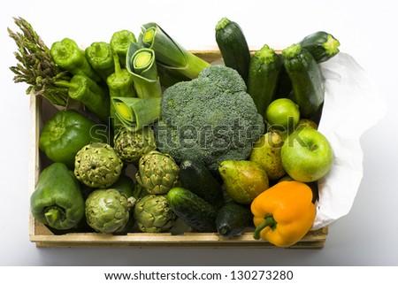 Vegetable box - stock photo