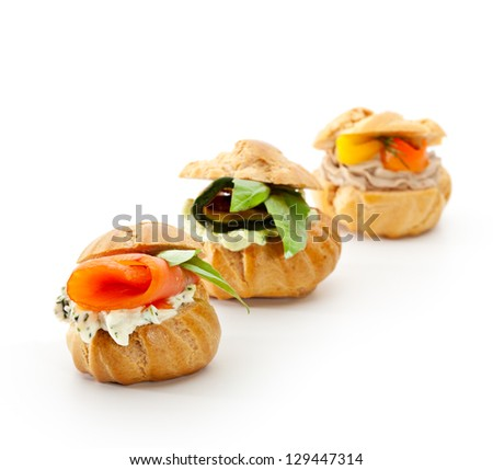 Vegetable Canape - stock photo