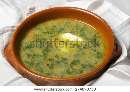 Vegetable chowder with cream
