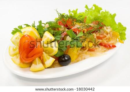 Vegetable dish, delicacy - stock photo