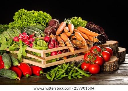 Vegetable, Food, Healthy Eating. - stock photo