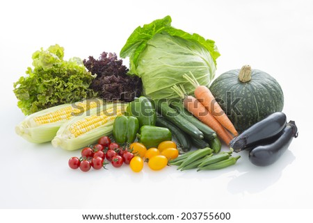 Vegetable foods  - stock photo